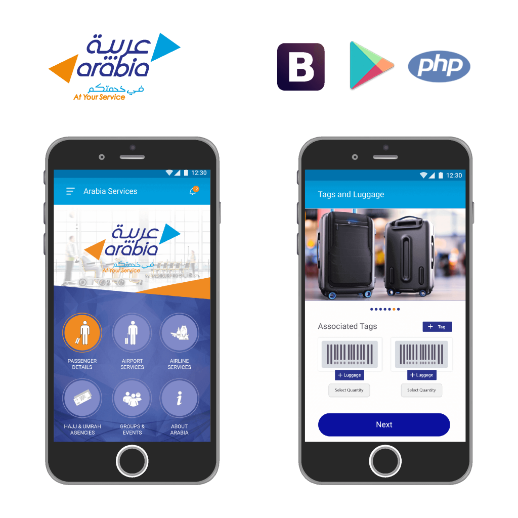 Arabia, web Application, mobile application