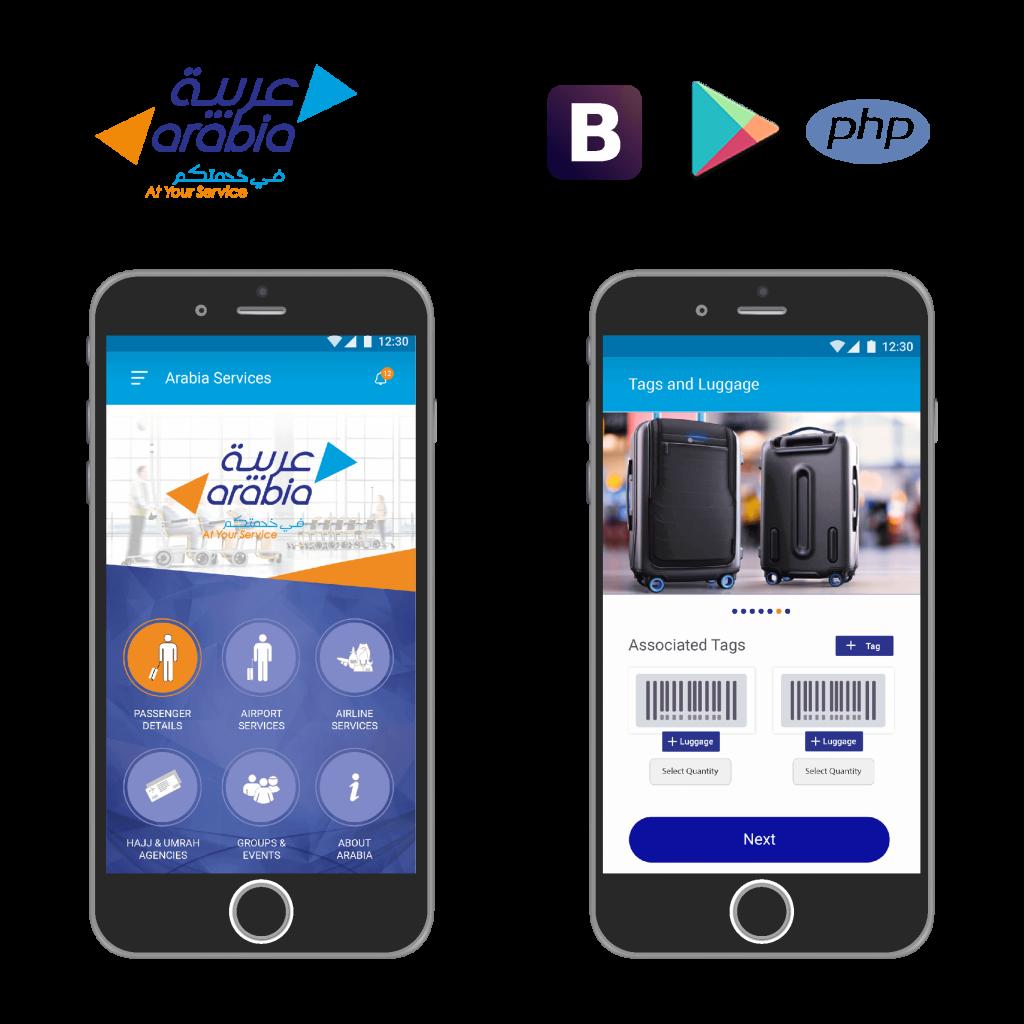 Arabia, mobile application, web application