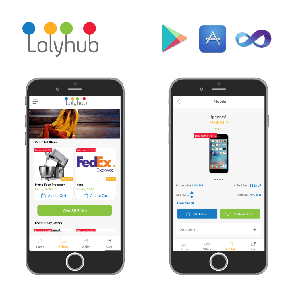 Loly-Hub , mobile application, web application