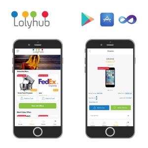Lolyhub, mobile application, web application
