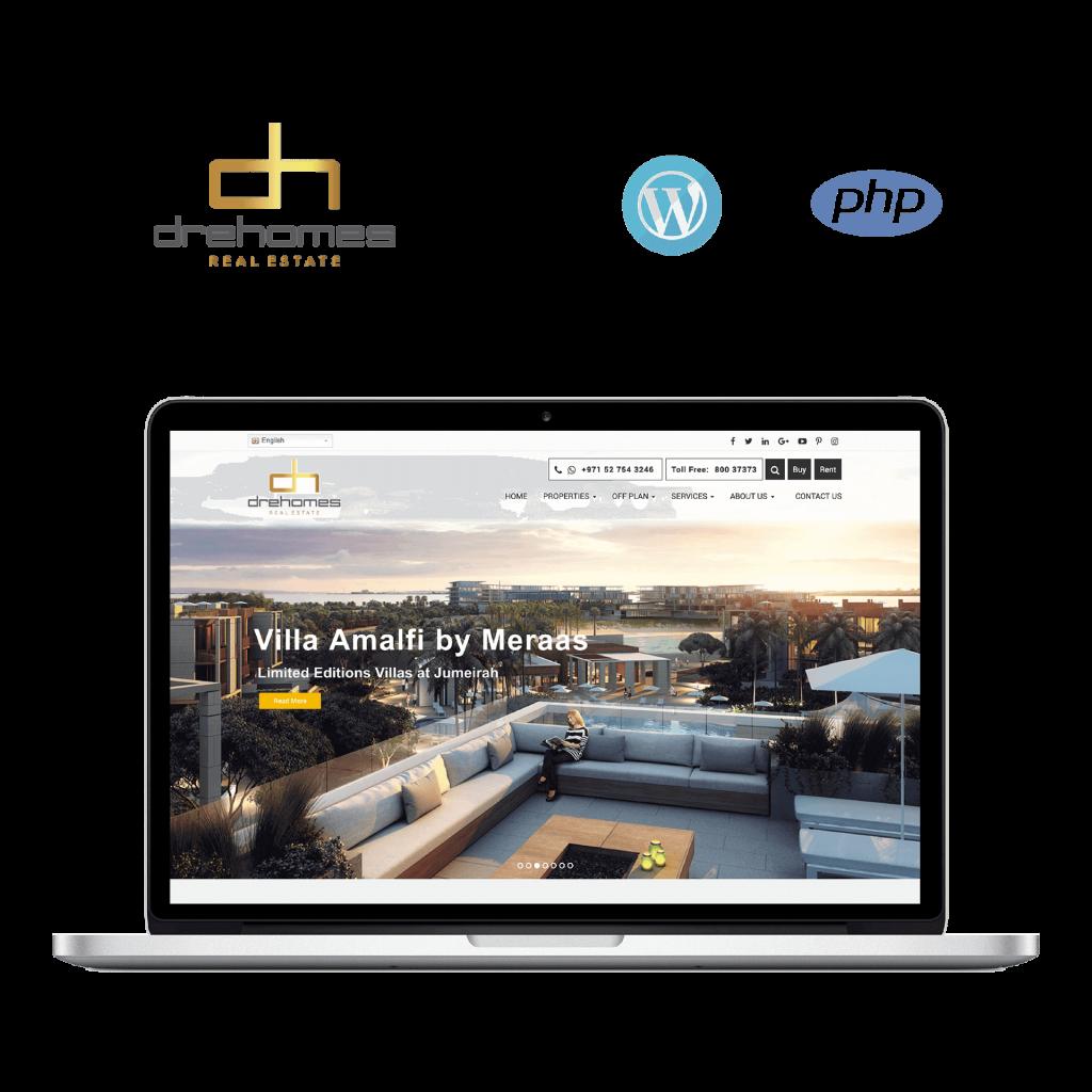 Dre-Homes, mobile application, web application