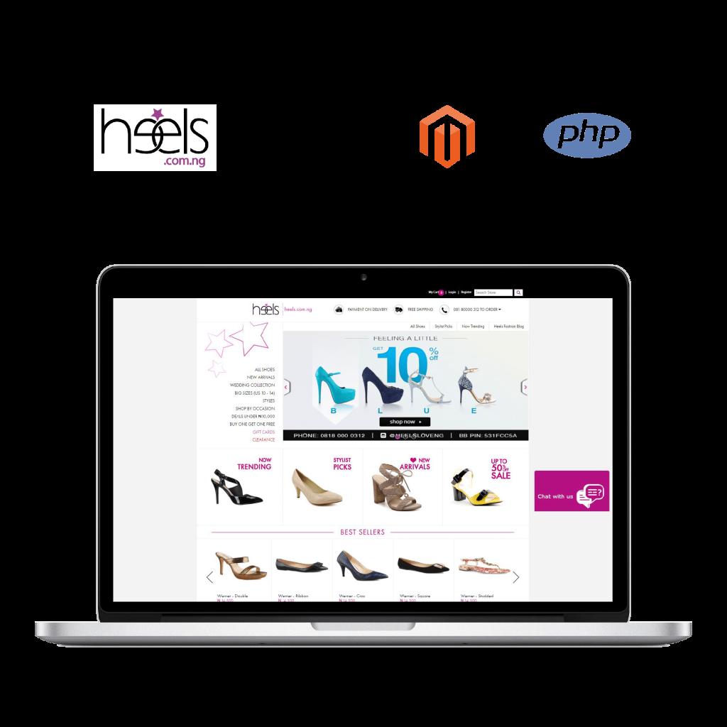 Heels, mobile application, web application