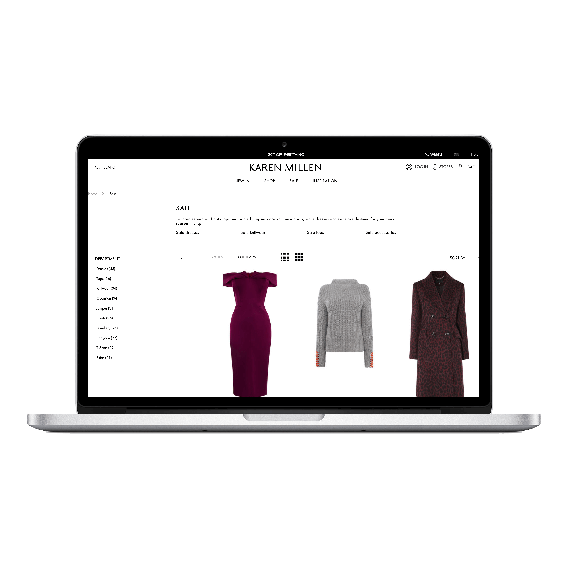 Karen-Millen, web Application, mobile application