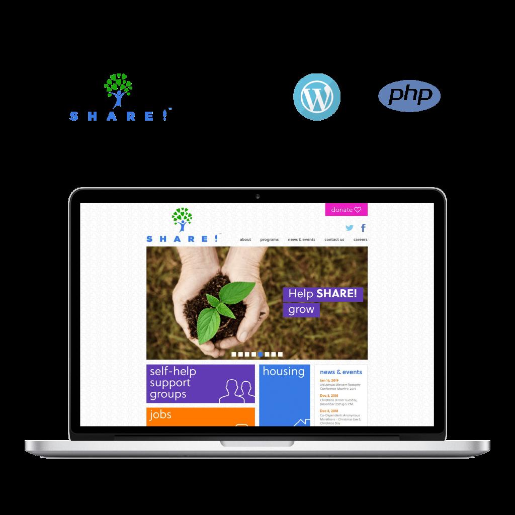 Share self help, web Application, mobile application