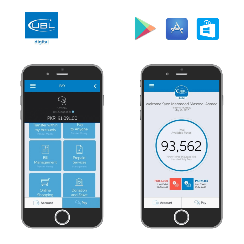 UBL, web Application, mobile application